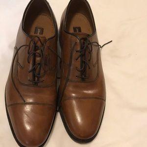Johnson & Murphy Cap Toe, Lace up Dress Shoe, 11 D